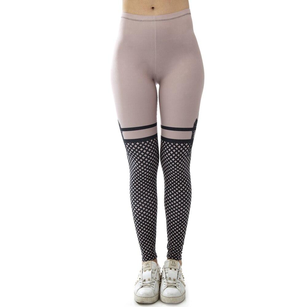 New Design Sexy Bad Girl Kiss Nude Printing Elastic Fitness Leggings Paddy Workout Legging Slim Sportswear Leggings