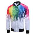 New Arrive Fashion Autumn 3D Jackets Print Colorful Paint Long Sleeve Hip Hop Coat With Zipper Veste Homme Plus Size M-3XL