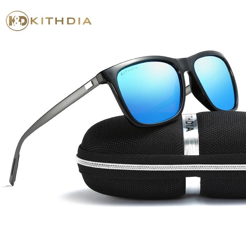 KITHDIA Marca Unisex Retro In Alluminio Occhiali Da Sole Polarizzati Lente Fashion Square Eyewear Occhiali Da Sole Per Gli Uomini e Le Donne # KD387