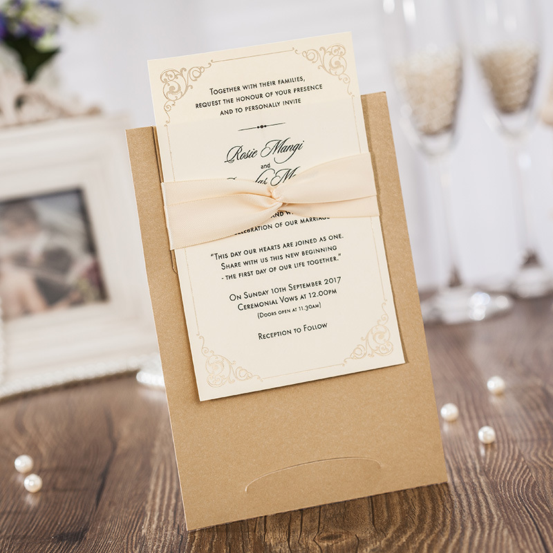 Goldene Hochzeit Einladungen Freies Personalisierte Druck