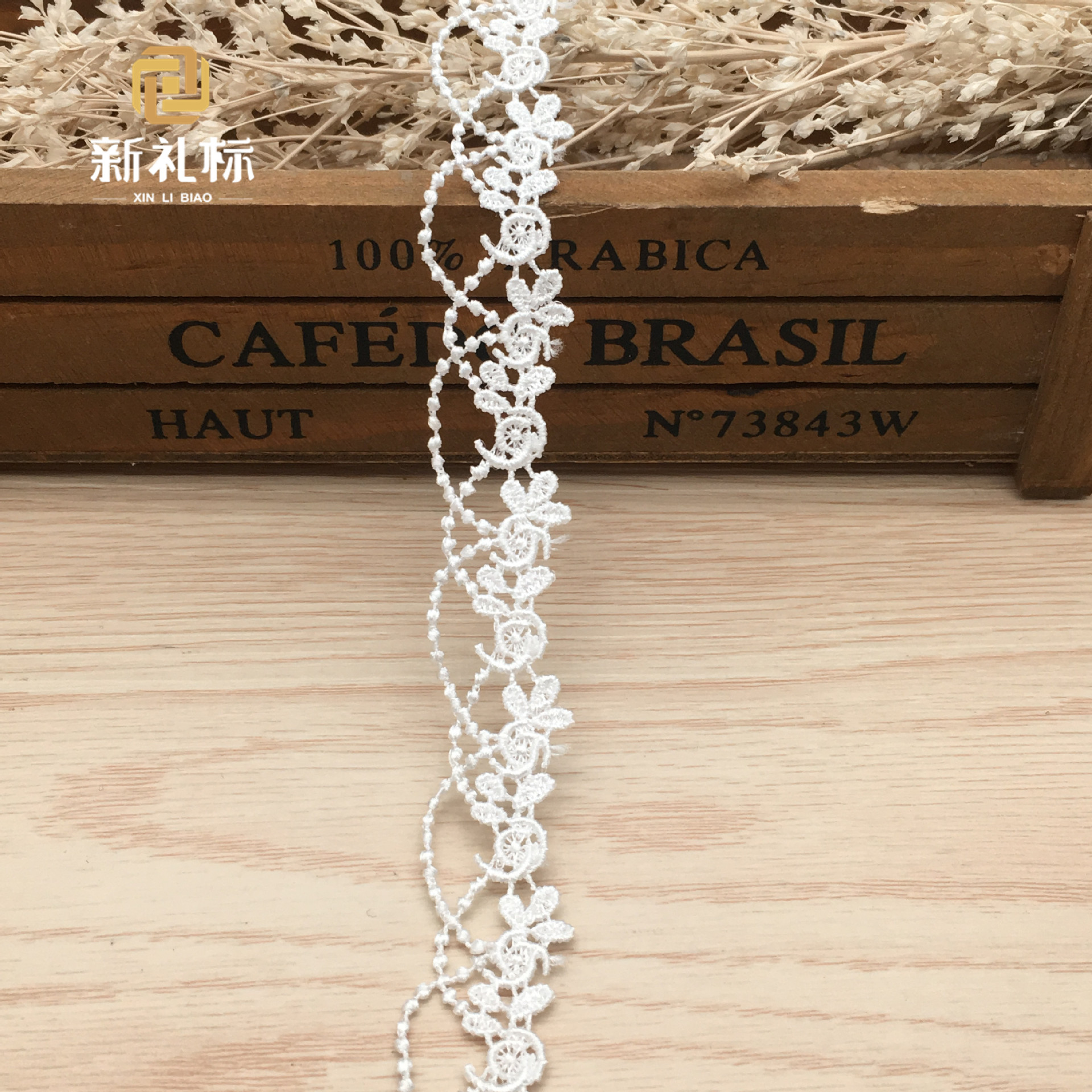 Garment accessories DIY polyester barcode embroidery lace ornaments clothing apparel Lolita accessories water-soluble lace
