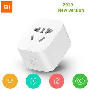 Image 2 - 2019 New Arrive Xiaomi Mijia WiFi Mi Smart Socket Plug WiFi Version Wireless Remote Socket Adaptor Power on and off with phone