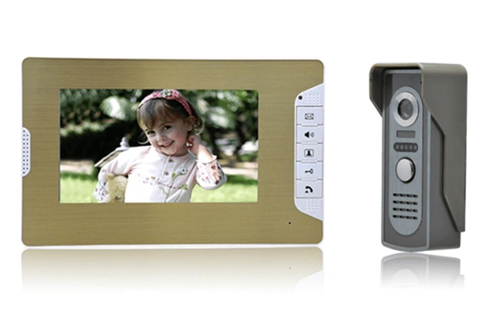 7 Inch LCD Monitor Zinc Alloy Case Camera Intercom Video Door Phone