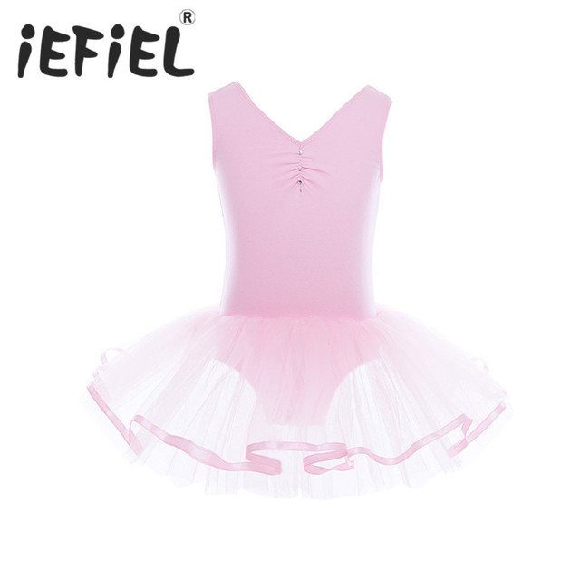 cc7b89656 Cute Child Girl Ballet Leotard Tutu Tulle Dress Children Clothing Ballerina  Fairy Party Costume Girls Perfomance Dancewear Dress-in Dresses from ...