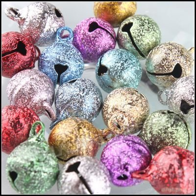 240pcs/lot  Mixed New Copper Jingle Small Bells 14x10x10mm Fit Festival & Wedding Party Decoration 270007