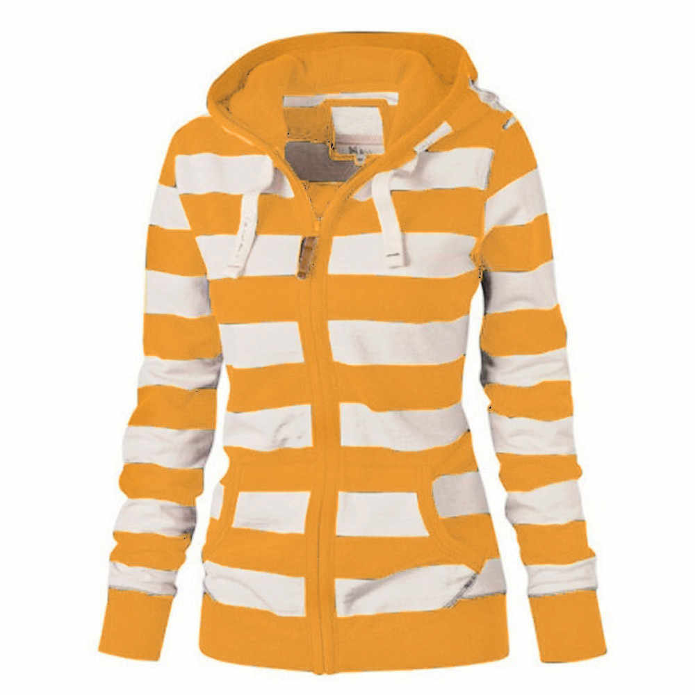 Hoody ผู้หญิงสุภาพสตรีเสื้อกระโปรง Hoodie Hooded Sweatshirt เสื้อลำลองแขนยาวเสื้อกันหนาว Slim Jumper # D7