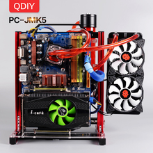 QDIY PC-JMK5 Custom Open Aluminum Block Water Cooling Platform Game Play PC Motherboard Computer Frame Chassis Bracket msi z170a pc mate z170 lga1151 motherboard overclocking game price plate new