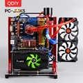 QDIY PC-PC-JMK5 Personalizzato Aperto Blocco di Alluminio di Raffreddamento Ad Acqua Piattaforma di Gioco di Gioco per PC Scheda Madre Del Computer di Telaio Telaio Staffa