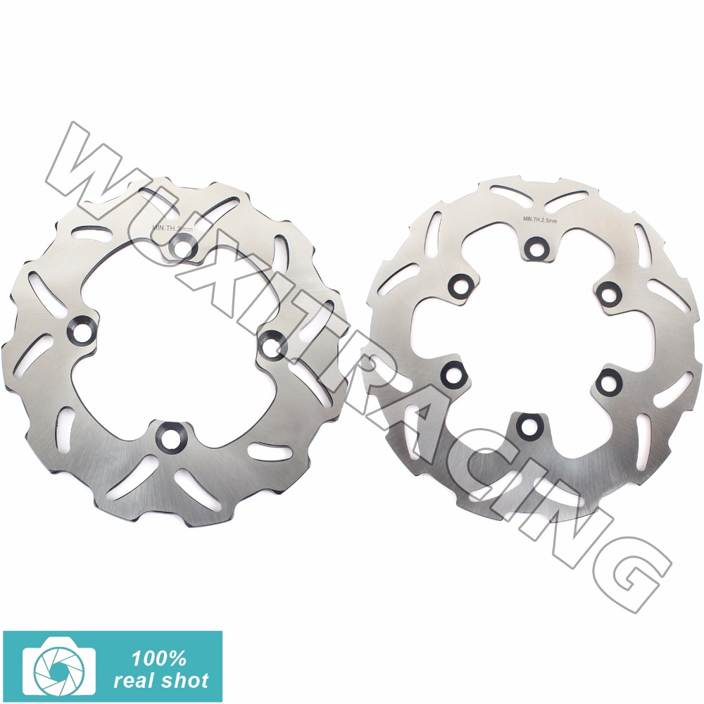 00 01 02 03 04 05 06 07 08 09 10 11 12 13 14 15 New Full Set Front Rear Brake Discs Rotors for KAWASAKI KX 85 100 KX85 KX100 motocycle cnc aluminum rear side mount luggage rack vertical flag pole american for harley touring road king glide