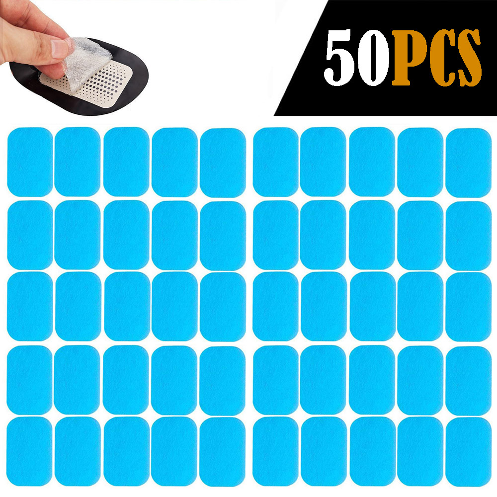 Galleria fotografica 50PCS EMS Abs Replacement Gel Pads Hydrogel Pads Sticker Abdominal Toning Electric Muscle Stimulation Toner Fitness Accessories