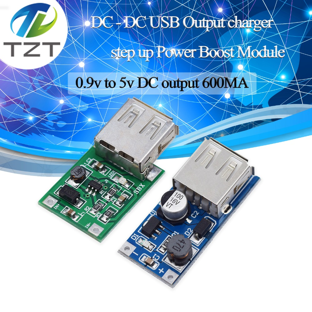 TZT DC-DC USB Output charger step up Power Boost Module 0.9V ~ 5V to 5V 600MA USB Mobile Power Boost BoardTZT DC-DC USB Output charger step up Power Boost Module 0.9V ~ 5V to 5V 600MA USB Mobile Power Boost Board