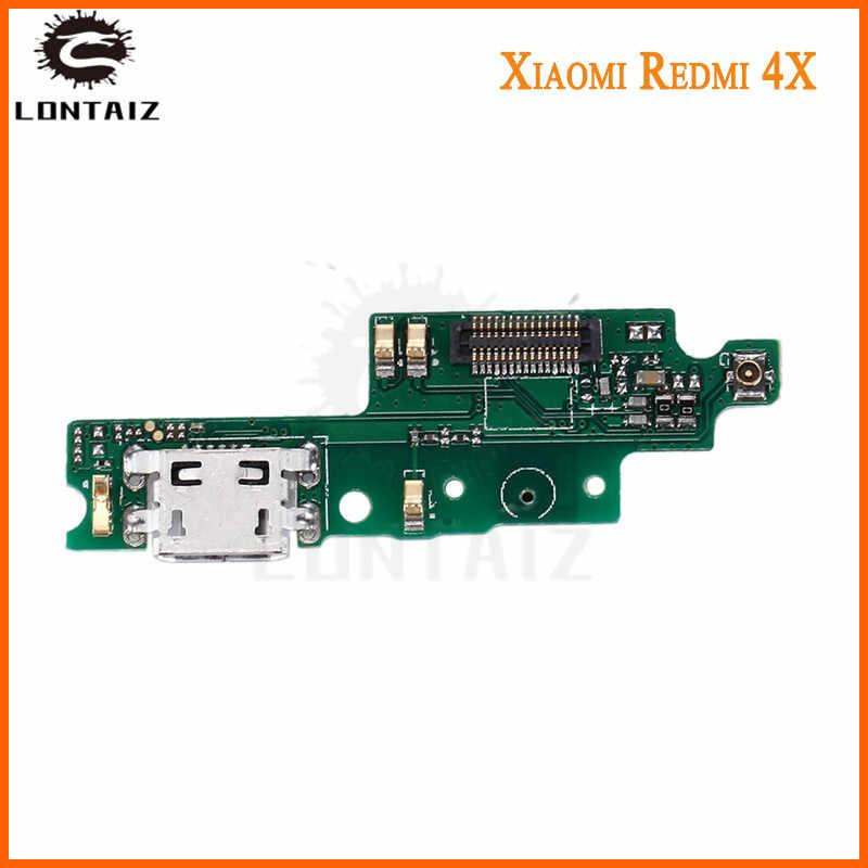 For Xiaomi Redmi 4X Micro USB board Plug Charge Port Dock Connector Flex  Cable Microphone Board
