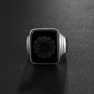 Image 2 - Qualidade superior leonardo dicaprio anel o grande gatsby preto onyx anéis para homem amor jóias atacado