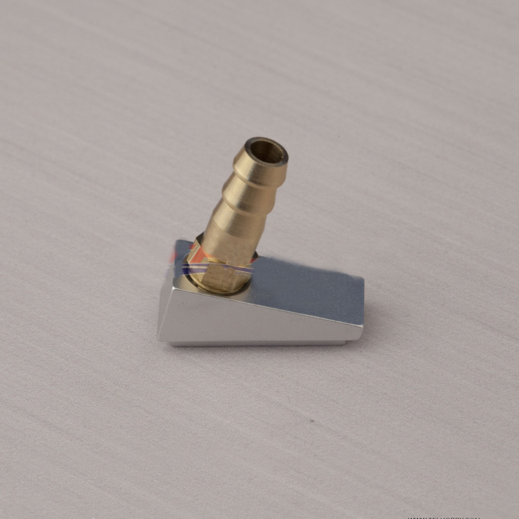Copper Nozzle+Aluminum Seat For RC Boat Water Cooling System Inlet Water Mouth DIY Model Ship Accessories Parts