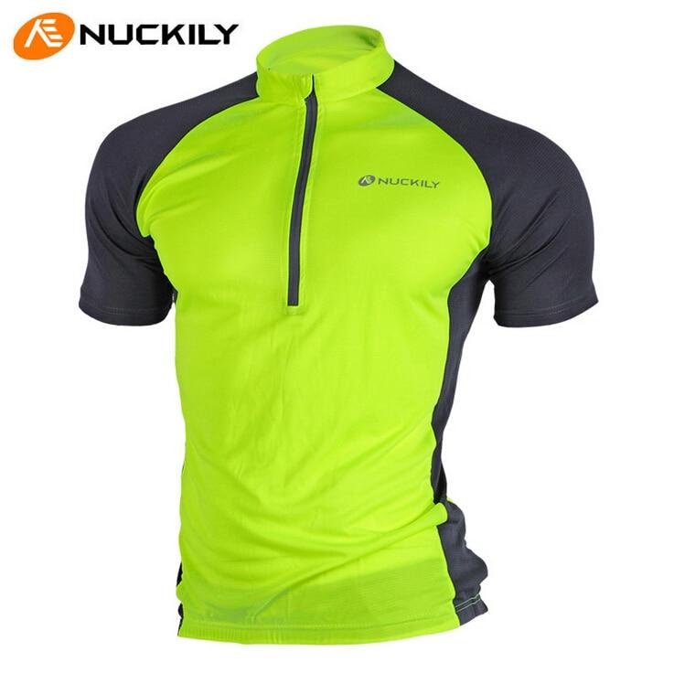 Prix pour NUCKILY D'origine Marque NUCKILY Solide Couleur Vélo Manches Courtes T-shirt VTT Ropa Ciclismo Maillot Vtt Vélo Jersey