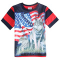 18 months- 6 year old boys wolf 3d kids t shirt,Clothing for boys clothes,baby roupas infantis meninos enfant