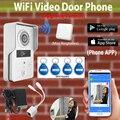 [Обновление Версии] Беспроводной Wi-Fi 3 Г 4 Г Открытый Водонепроницаемая Камера Крытый Белл Видеомонитор Интерком RFID Брелки дверной звонок