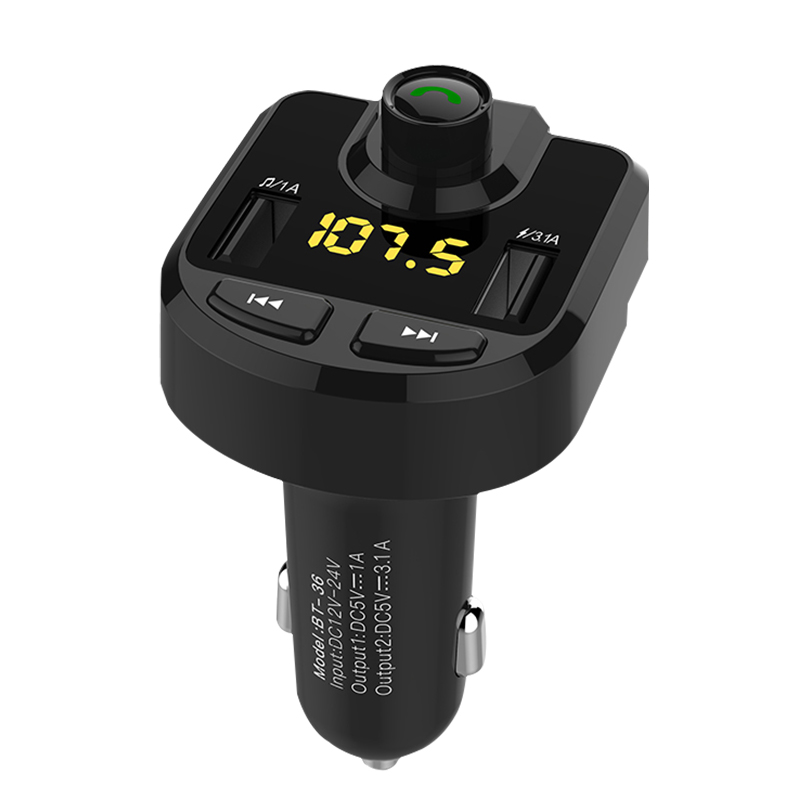 Mp3 Player Wireless Bluetooth Fm Transmitter Modulator HandsFree Car Kit For Univeral Car Use Handsfree Calling Radio Adapter