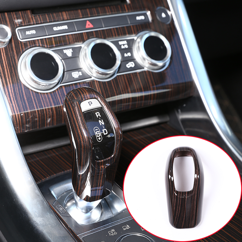 ABS Plastic Center Console Gear Shift Head Cover Trim Car Accessory red ash wood for Range Rover Sport RR Sport 2014-2018