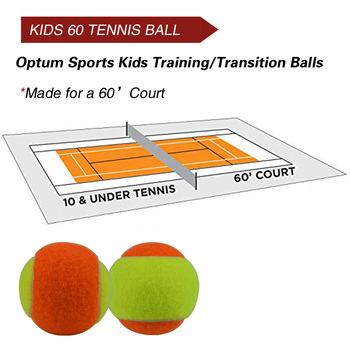 12pcs Beginner Child or Adult Training (Transition) Practice Tennis Balls (25%-75% Slower Ball Speed) 21
