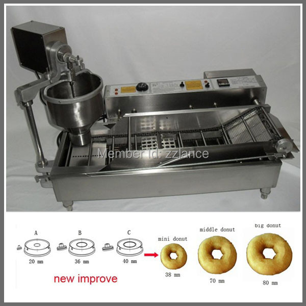 Automatic Doughnut Factory: 3 Sizes Automatic Donut Making Machine, Donut Maker