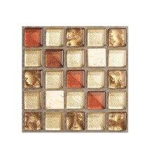 20 шт. самоклеющиеся плитки настенные стикеры s DIY мозаика пол настенные наклейки для кухни Ванная комната Домашний декор 9J22