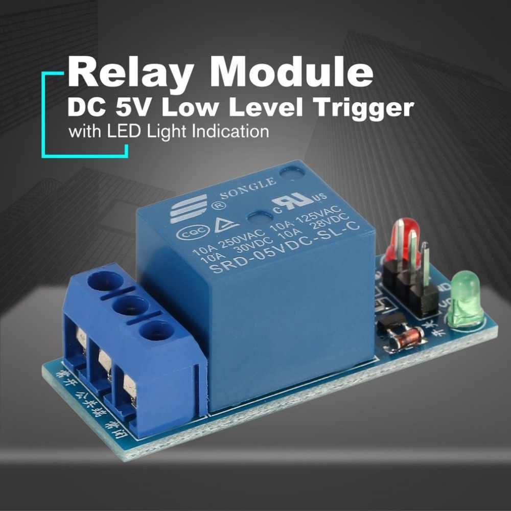 Mini Module de relais de carte d'interface de déclenchement de bas niveau DC 5 V 1 canal avec Kit de protection de lampe à LED pour électronique