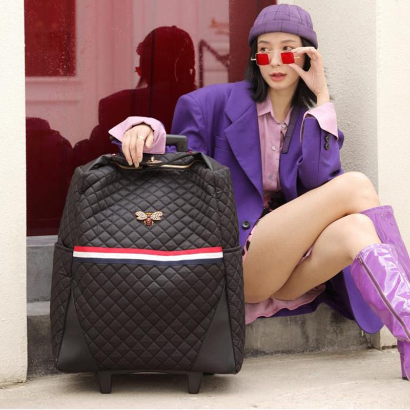 TRAVEL TALE 18 20 inch women cute carry on trolley light travel luggage bag on wheels