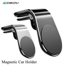 Magnetic Car Phone Holder L Shape Air Vent Mount Clip Stand in GPS Cell Mobile For iPhone X Samsung S9 Xiaomi 8