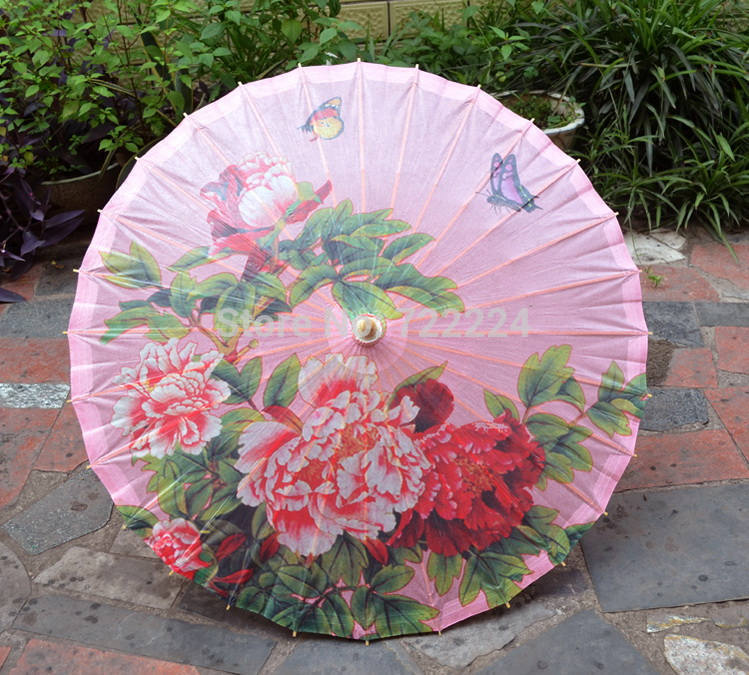 Dia 50cm small craft chinease traditional oiled paper <font><b>umbrella</b></font> with classical pink peony painting as decoration gift dace props
