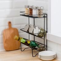 Storage Racks Holders Multifunction Three Layers Shelves Living Room Kitchen Bathroom Condiment Toiletries Grocery Organizer
