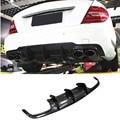 C Класс углеродного волокна задний спойлер диффузор для Mercedes Benz W204 C63 AMG 4 двери 09-11 Prophas AMG стиль автомобиля Стайлинг