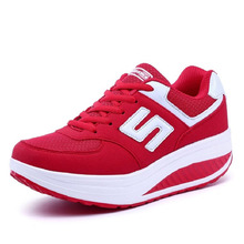 YeddaMavis Women Sneakers Shoes Red Platform Spring New Lace Up Casual Running Womens Woman Trainers