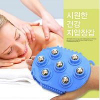 Health Care Handheld Tools 360 Degree Rotation 7pieces Magnetic Beads Mini Body Massage Brush Steel Ball