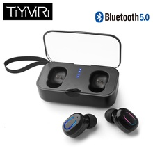 TiYiViRi TWS Bluetooth 5.0 Earphone Wireless Earphones Earbuds 3D Stereo Bass Headset with Charging Box for Iphone Xiaomi Huawei
