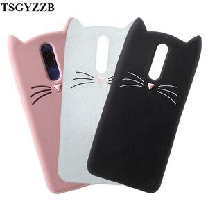 3D силиконовый чехол для телефона Huawei Honor 8X 7X 8 9 10 Lite Nova 2 2i 3 3i P30 Pro P20lite Smile, черный, розовый чехол с кошачьими ушками для бороды