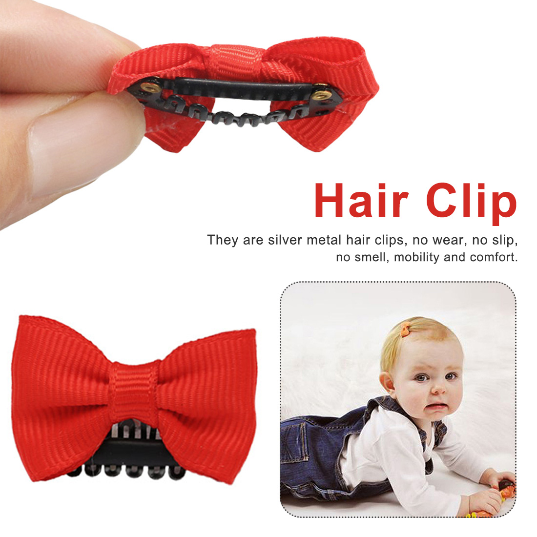 10 Pieces Hair Clip Cute BB Clip Children Hair Accessories Children Mini Hair Clip  Newborn Baby Girl Scarce Hairstyle Bow