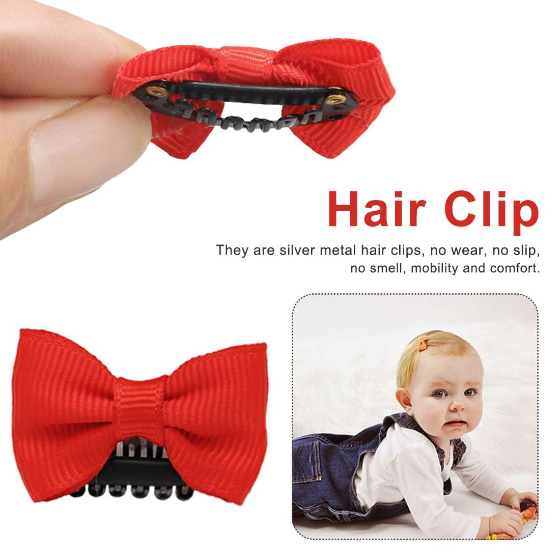 10 Pieces Hair Clip Cute BB Clip Children Hair Accessories Children Mini Hair Clip  Newborn Baby Girl Scarce Hairstyle Bow