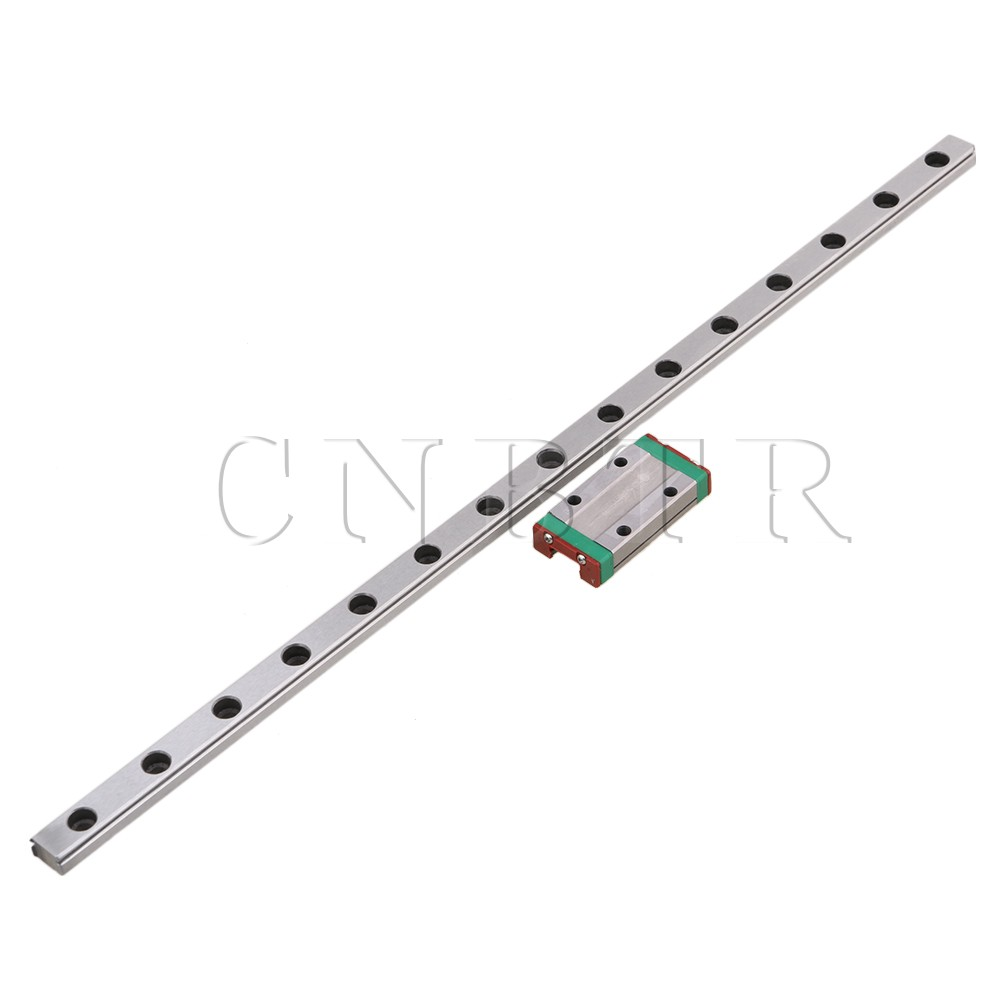 CNBTR 300mm Length Bearing Steel Linear Sliding Guide Slide Rails & MGN9 Linear Extension Block for CNC 3D Printer section three track rail drawer slide rails 3 row ball bearing linear guides thicker