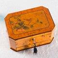 Exportación Maestro Del Arte de Laca de Piano Caja de Colección de Joyas Caja De Joyería de Múltiples Capas De Madera Sólida Pura Bloqueo