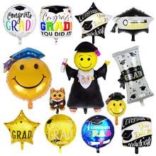 Doctor Balloons Star Round Graduation 2019 Grad Globos Gift Back To School Party Decorations Birthday Decor