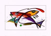 Belas Pinturas Da Lona Abstrata Um Colorido Dourado e Laranja Koi Peixes Nadando Debaixo D' Água Arte Da Parede pintados à Mão de Alta qualidade
