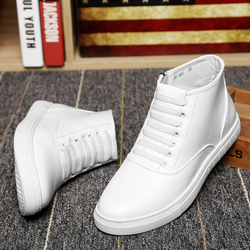 Men's Boots Mens Round Toe Ankle Boots Men Casual Leather Men Winter Shoes Mens Winter Shoes With Zipper Spring Autumn Size 9.5 fashion pleated leather mens casual shoes spring autumn new high top men shoes ankle mens sneakers zipper casual footwear