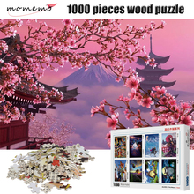 MOMEMO Puzzle 1000 Pieces Cherry Blossom Landscape Jigsaw High Definition Wooden Adult Puzzles Toys