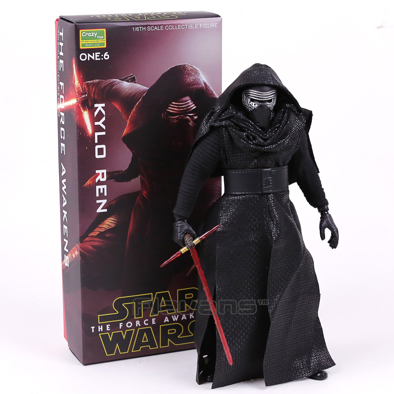 Crazy Toys Star Wars The Force Awakens KYLO REN 1/6th Scale Collectible Figure Toy 12inch 30cm 2016 new 26cm movie the force awakens the black series kylo ren cartoon toy pvc figure model action figures