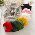 Горячая Продажа Детские Мальчики Девочки Дети Дети Трикотажные Зима Осень Пуловеры Водолазка Теплая Верхняя Одежда Мальчик Свитера