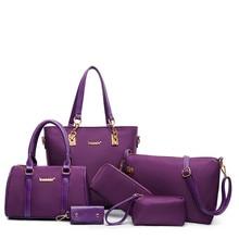 2019 Arrival 6 Pcs Set Fashion Women Composite Bags oxford simple fashion Women Handbag Shoulder Bag Wallets Purse Key Bag Set все цены