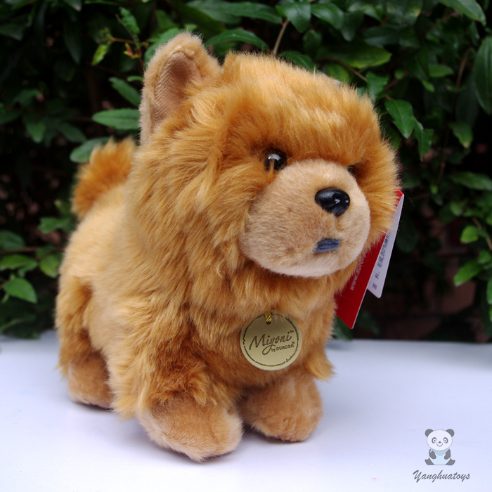 Cute Simulation Plush  Chow Chow Doll Toys Children  Gift Stuffed Animal Dogs Toy Girls 1pcs 22cm fluffy plush toys white eyebrows cute dog doll sucker pendant super soft dogs plush toy boy girl children gift