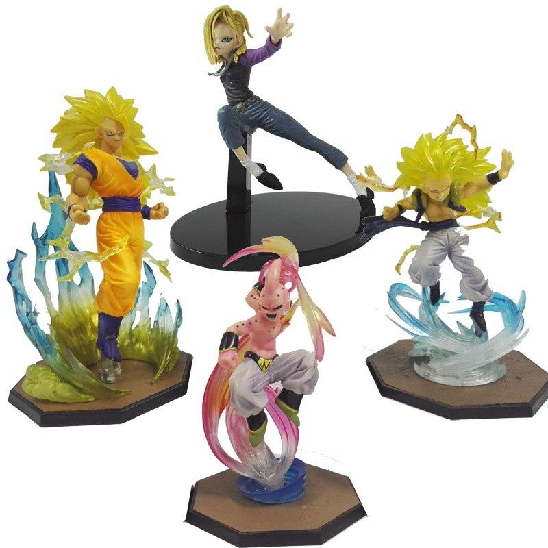 все цены на Figuarts Zero Super Saiyan 3 Son Goku Dragon Ball Z Gotenks Majin Buu Cool style Scultures Big Model toys Gift kid buu онлайн
