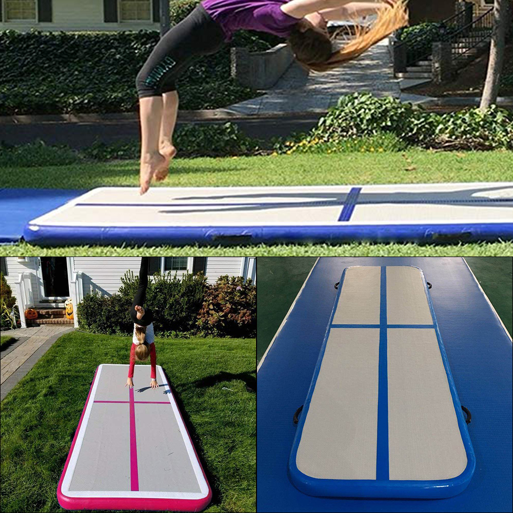 Portable Inflatable Gymnastic AirTrack Tumbling Inflatable Mattress Trampoline Electric Air Pump Home Use/Training/Cheerleading